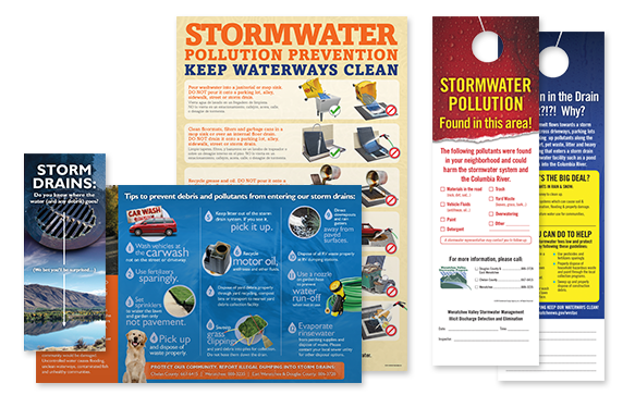 Stormwater Brochure and Door Hanger Collage