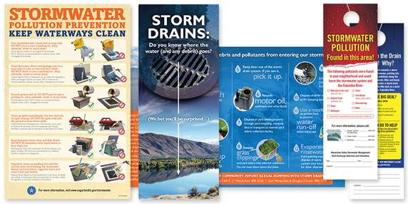 Stormwater materials collage