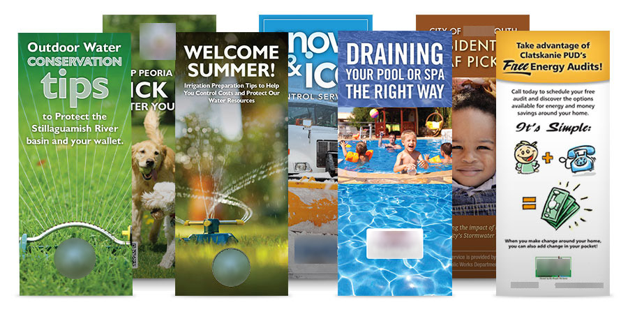 Public Awareness Campaign - Public Outreach Materials - Water Conservation Stormwater Streets Leaf Pickup Electric Materials Collage