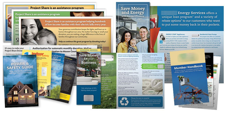 Public Awareness Campaign - Public Outreach Materials - Electric Brochure Collage