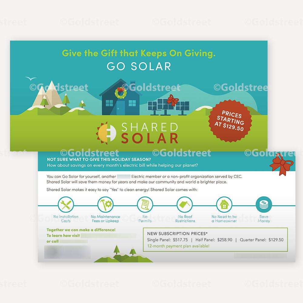 Shared Solar - Go Solar - Bill Insert - Public Awareness Campaign - Public Outreach Materials