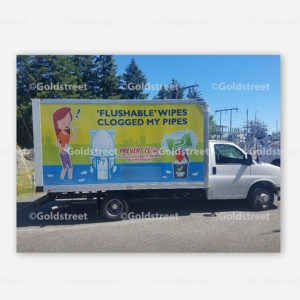 Public Outreach - Public Awareness - FOG & Wipes Truck Stickers
