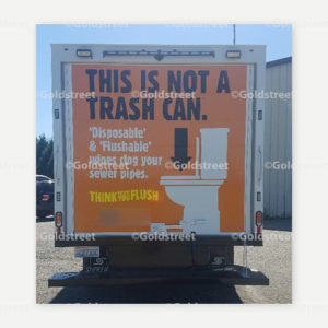 Truck Sticker - This is not a Trash Can