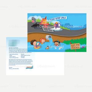 Public Outreach - Public Awareness - Stormwater/Stormdrain Spill Report Postcard