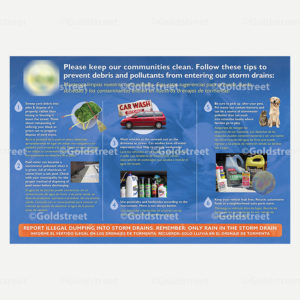 Public Outreach - Public Awareness - Stormwater/Stormdrain Tips Poster