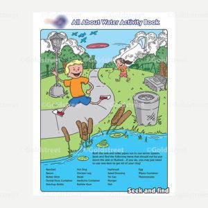 Public Outreach - Public Awareness - Kids Toilet Trash Activity Book