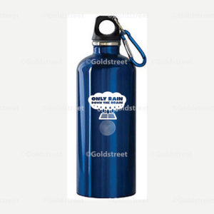 """Public Outreach - Public Awareness - """"Only Rain Down the Drain"""" stormwater branded water bottle"""