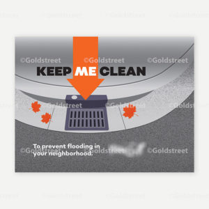 """Public Outreach - Public Awareness - """"Keep me clean"""" Stormdrain/Stormwater messaging street sweeper wrap"""