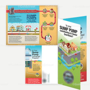 """Public Outreach - Public Awareness - """"Is Your Sump Pump Contributing to Sewer Overflows?"""" brochure"""