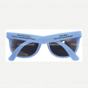 """Public Outreach - Public Awareness - """"Only Rain Down Our Storm Drain"""" """"Conserve Our Precious Water!"""" Stormwater and Drinking Water Conservation Sunglasses"""