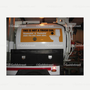 """Public Outreach - Public Awareness - """"This Is Not a Trash Can"""" Vac-Con Tanker Truck Sticker"""