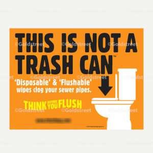 Public Outreach - Public Awareness - This Not a Trash Can Toilet Trash Vehicle magnets