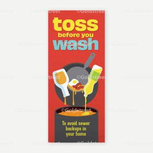 Public Outreach - Public Awareness - Toss Before You Wash FOG Bill Insert
