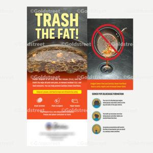 Public Outreach - Public Awareness - Trash the Fat Rack Cards