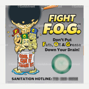 Public Outreach - Public Awareness - Fight Fats Oils and Grease Vehicle Magnets