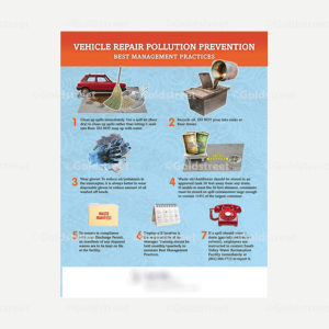 Public Outreach - Public Awareness - Stormwater Vehicle Maintenance Poster
