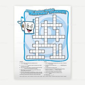 Public Outreach - Public Awareness - Wastewater Kids Crossword 4-6