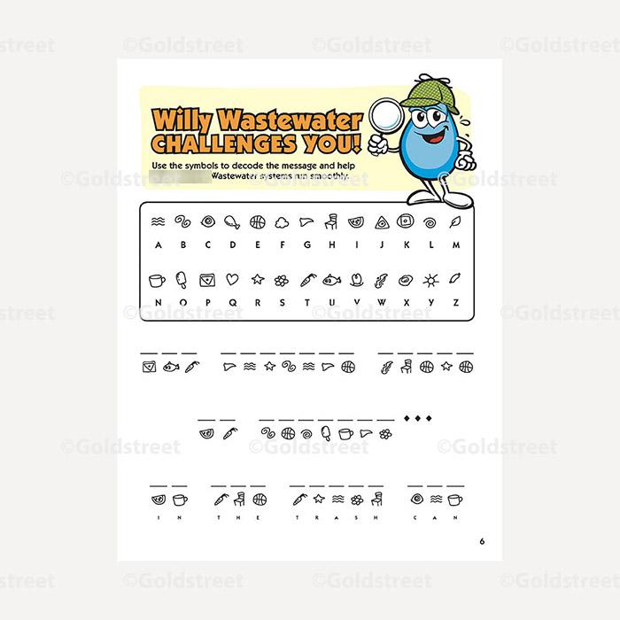 Public Outreach - Public Awareness - Wastewater Kids Decoder 1-6