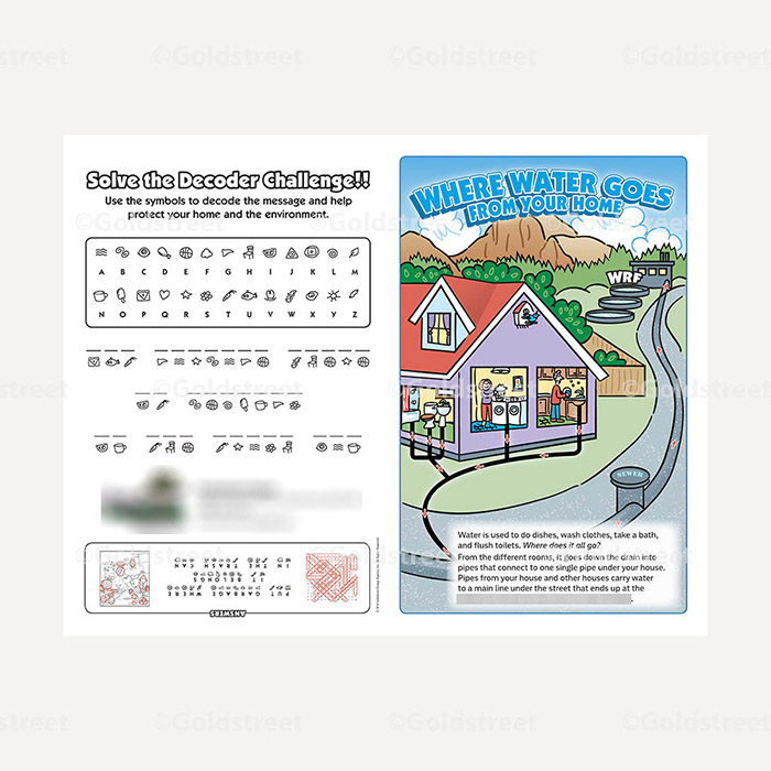 Public Outreach - Public Awareness - Wastewater Kids Grade 1-6 booklet