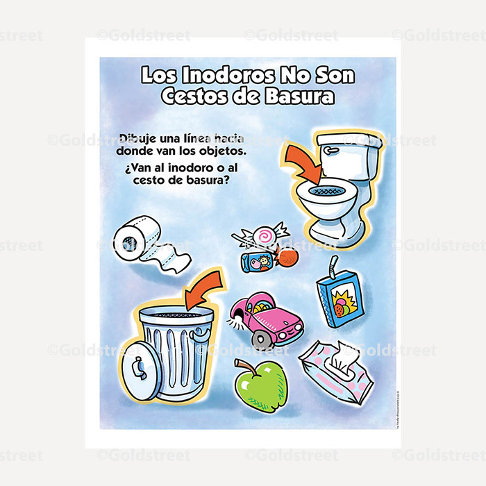 Public Outreach - Public Awareness - Wastewater Kids Matching 1-3 Spanish
