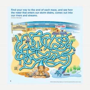 Public Outreach - Public Awareness - Wastewater Kids Maze 4-6
