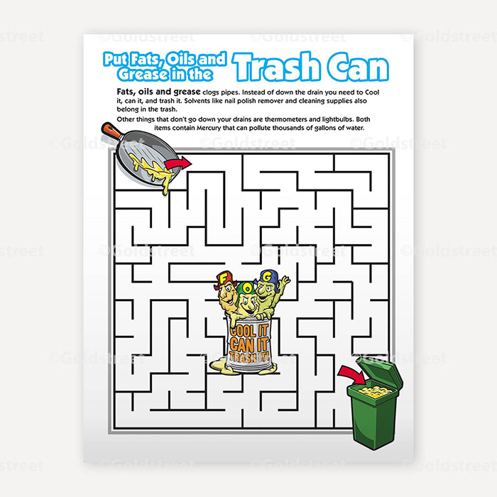 Public Outreach - Public Awareness - Wastewater Kids Maze 4-6
