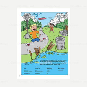 Public Outreach - Public Awareness - Wastewater Kids Seek and Find 1-6