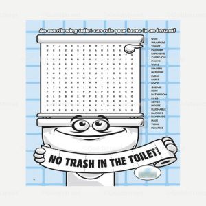 Public Outreach - Public Awareness - Wastewater Kids Word Search 4-6
