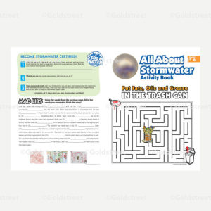 Public Outreach - Public Awareness - Sample Kids Activty Brochure shows maze and Mad Lib Activty