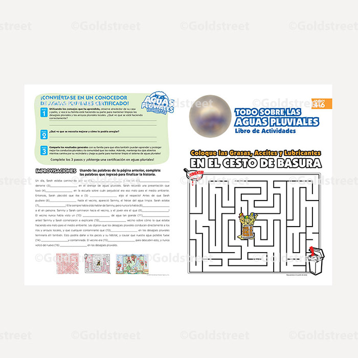 Public Outreach - Public Awareness - Wastewater and Stormwater Kids Activity Booklet