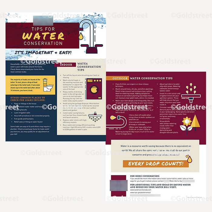 Public Outreach - Public Awareness - Tips for Water Conservation Brochure