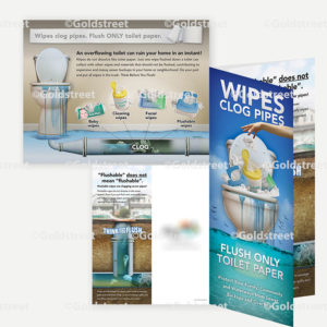 Public Outreach - Public Awareness - Wipes Clog Pipes Brochure