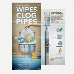 Public Outreach - Public Awareness - Wipes Clog Pipes Bill-insert