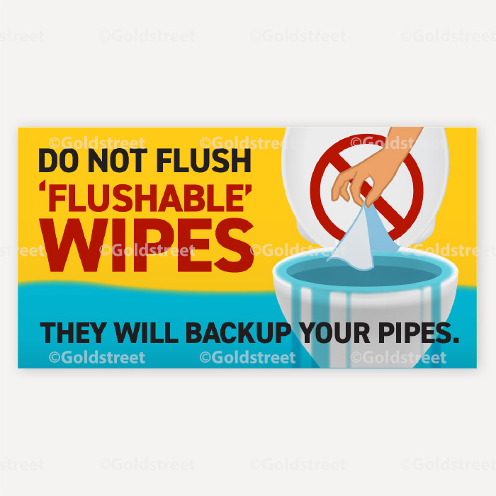 Public Service Announcement Clogged Pipe Alert Toilet Trash Wipes Clog Pipes Social Media Snackable