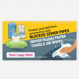 Public Service Announcement Clogged Pipe Alert Toilet Trash Wipes Clog Pipes Snackable