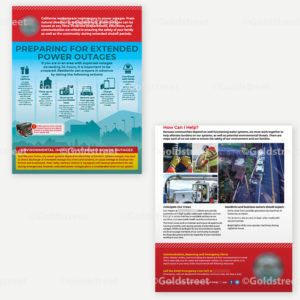Public Outreach - Public Awareness - Power outage flyer