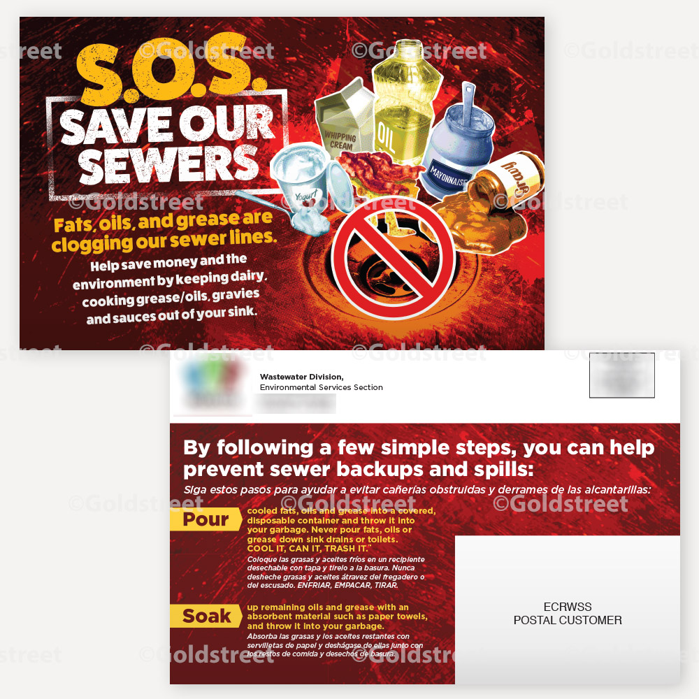 Public Outreach - Public Awareness - Save our Sewers FOG Outreach