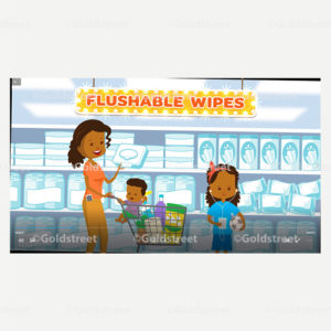 Screenshot - Flushable Wipes Are Not Flushable Animated Outreach Video For Utilities and Municipalities