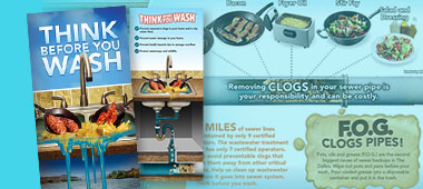 """""""Think before you wash"""" material promo for blog article"""