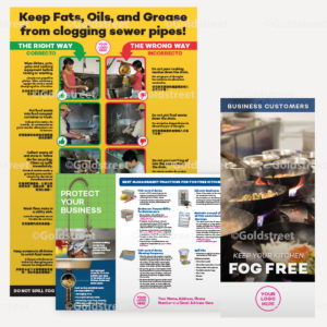 Public Outreach - Public Awareness - Commercial FOG (Fats, Oils and Grease) Brochure