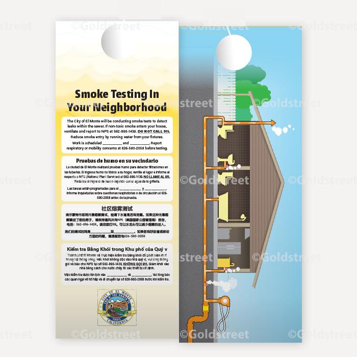 Public Awareness - Public Outreach - Smoke testing door hanger