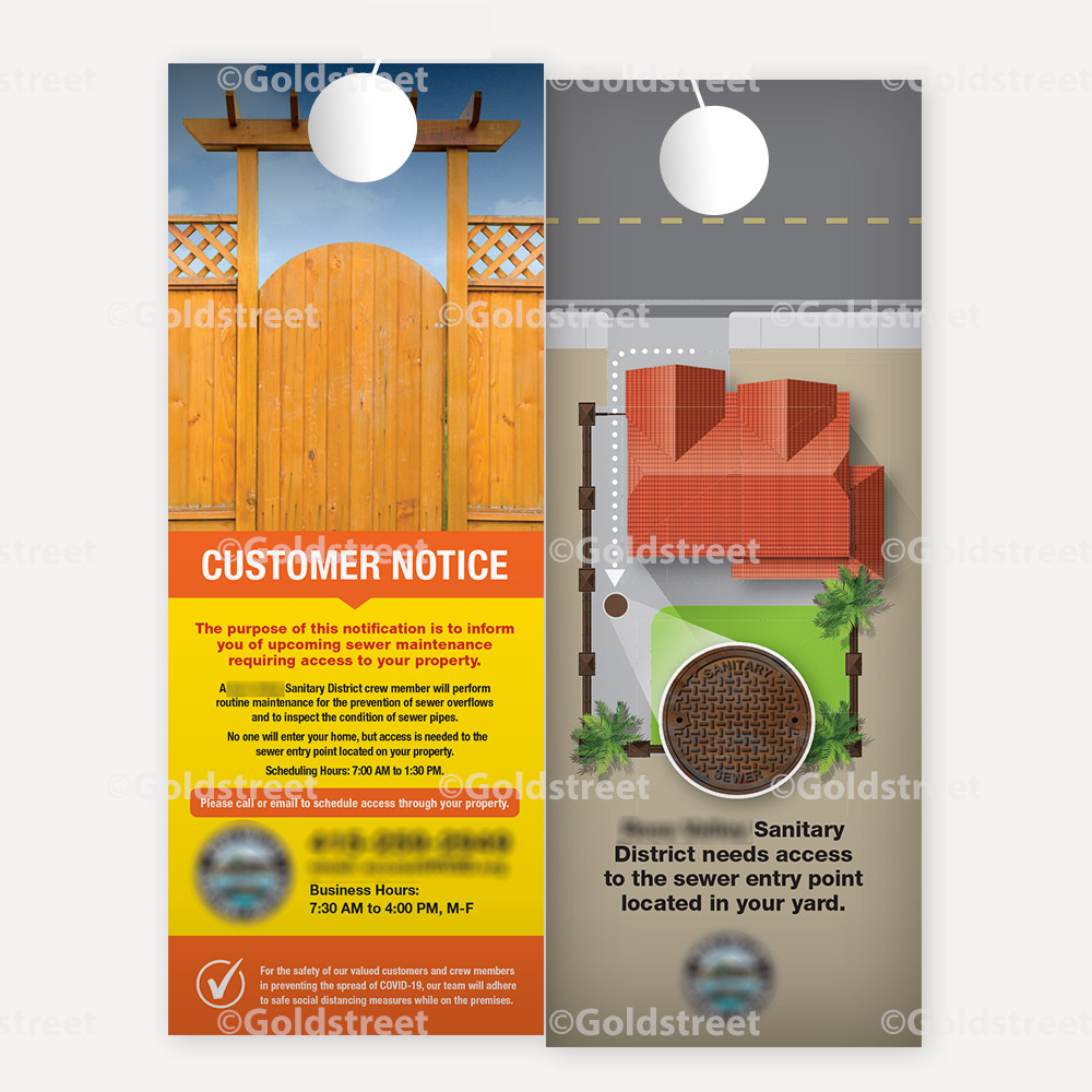 Public Awareness - Public Outreach - Sewer Access Notification Door Hanger