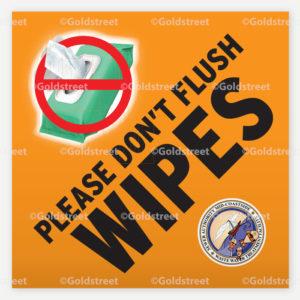 Wipes Vinyl Sign