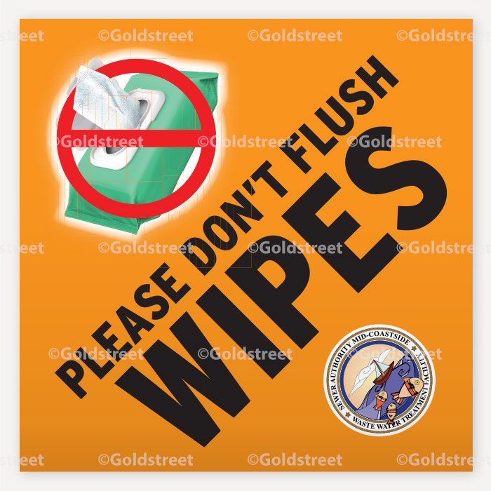 Wipes Vinyl Sign